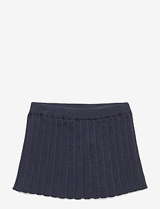 PLISSÉ SKIRT - NAVY