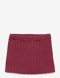 PLISSÉ SKIRT - WINE RED