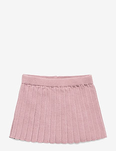 PLISSÉ SKIRT - WOOD ROSE