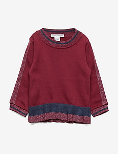 GIRLS BLOUSE W. FRILL - chemisiers & tuniques - wine red