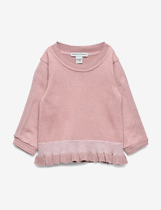 GIRLS BLOUSE W. FRILL - WOOD ROSE