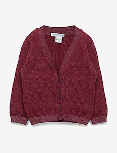 GIRLS CARDIGAN - WINE RED