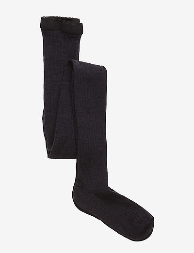 Wool rib tights - rajstopy - 66/navy