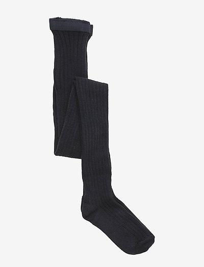 Cotton rib tights - rajstopy - 96/dark navy