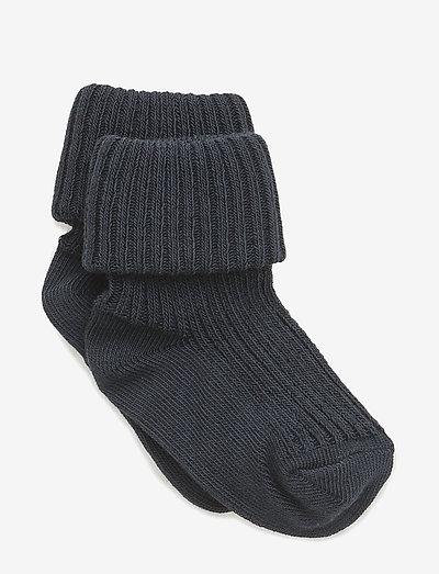 Cotton rib baby socks - skarpetki - 142/indi blue