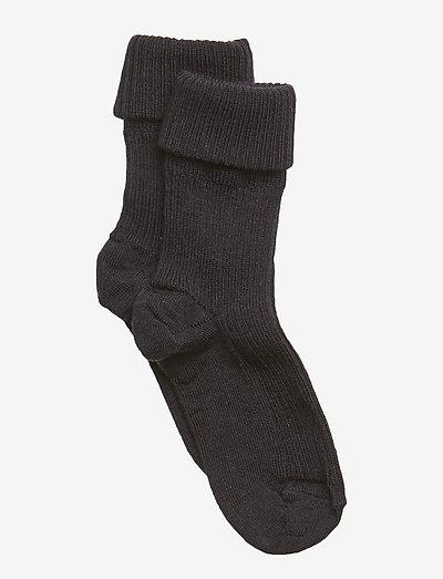 Wool rib baby socks - skarpetki - navy