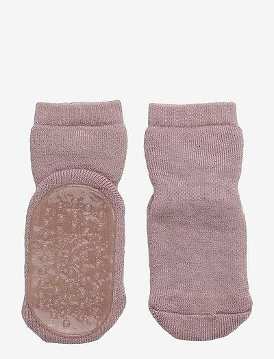 Wool socks with anti-slip - skarpetki antypoślizgowe - 188/wood rose