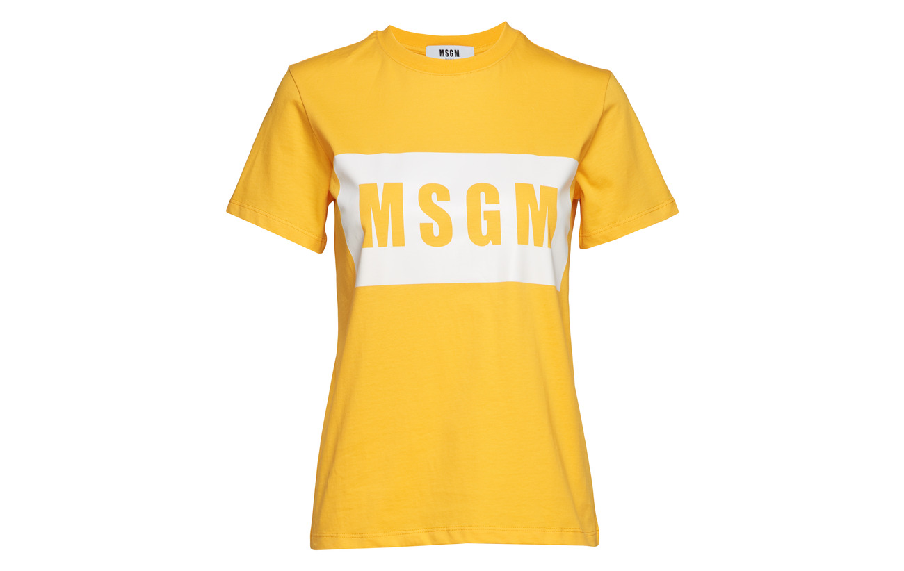 shirt Coton Msgm 100 T Yellow pwn7Hq