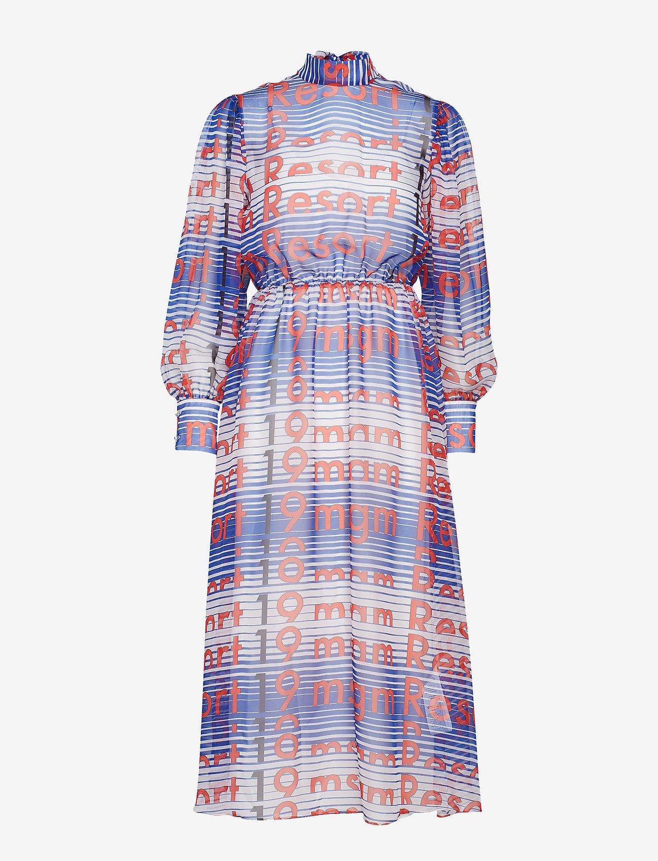 MSGM - DRESS - midi dresses - blue