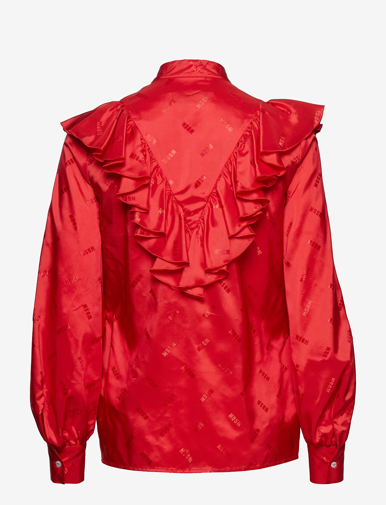 MSGM - SHIRT - long sleeved blouses - red