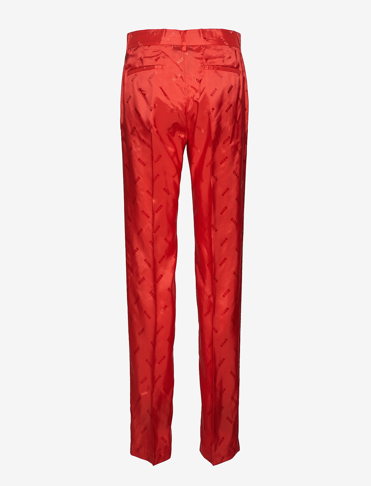 MSGM - PANT - straight leg trousers - red