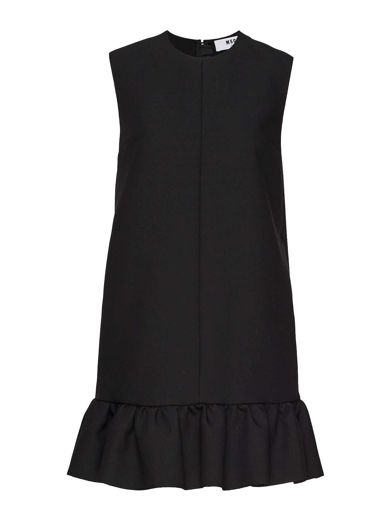 MSGM HEAVY DOUBLE CREPE CADY DRESS - BLACK