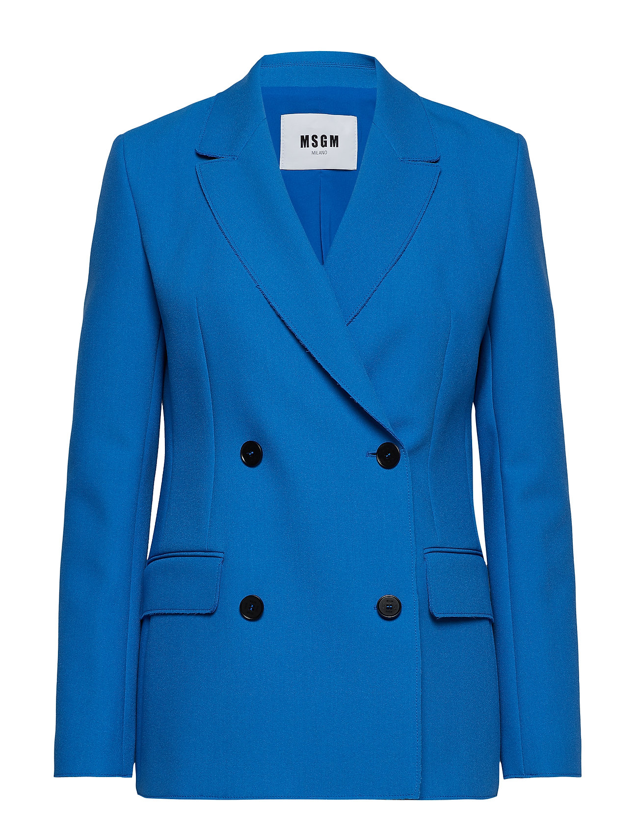 MSGM HEAVY DOUBLE CREPE CADY JACKET - BLUE