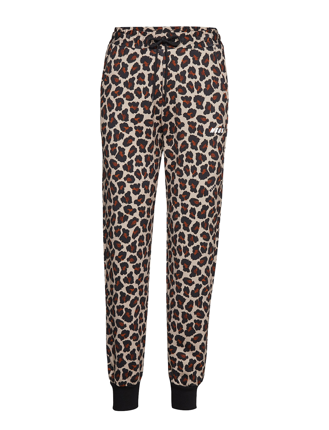 Image of Animalier Printed Cotton Fleece Pants Casual Bukser Beige MSGM (3203601739)