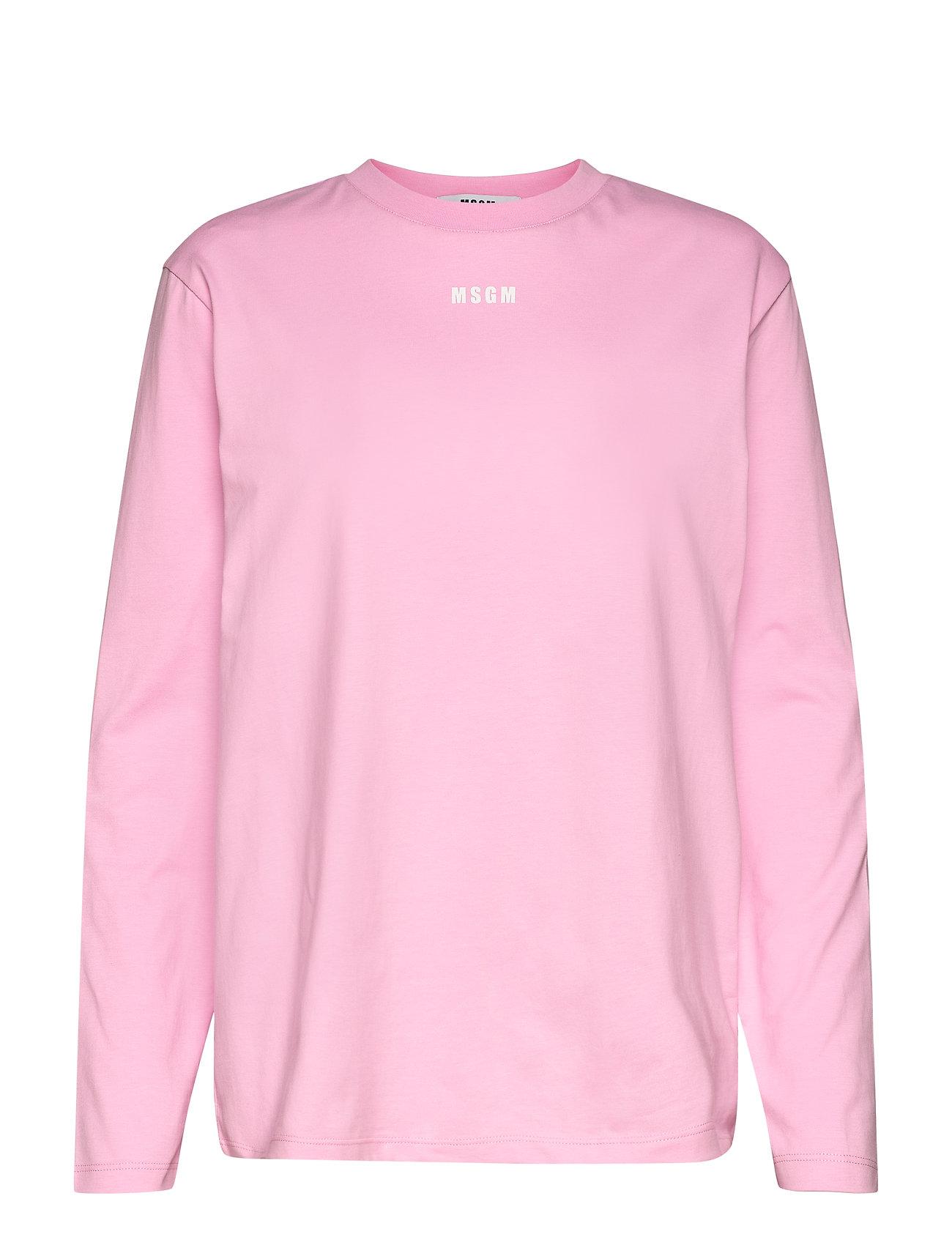 Image of T-Shirt/T-Shirt Langærmet T-shirt Lyserød MSGM (3484277963)