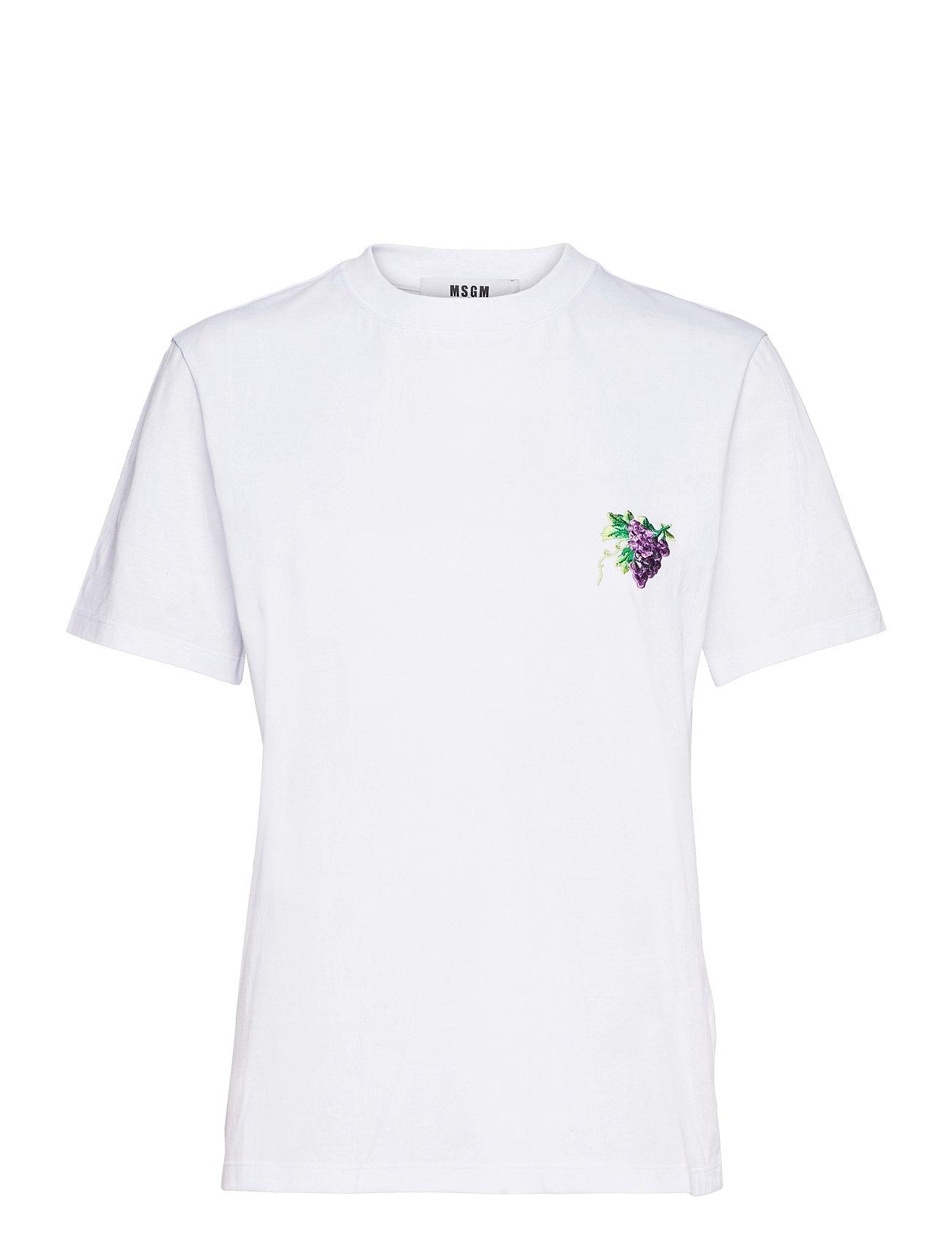 Image of T-Shirt/T-Shirt T-shirt Top Hvid MSGM (3512377635)