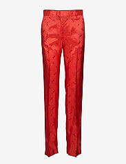 MSGM - PANT - straight leg trousers - red - 0
