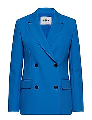 HEAVY DOUBLE CREPE CADY JACKET - BLUE