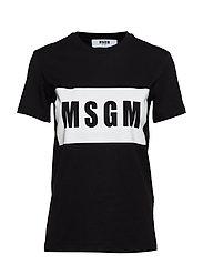 MSGM PANEL T-SHIRT - BLACK