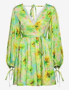 ABITO/DRESS - omlottklänningar - yellow