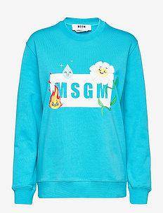 FELPA/SWEATSHIRT - sweatshirts - blue