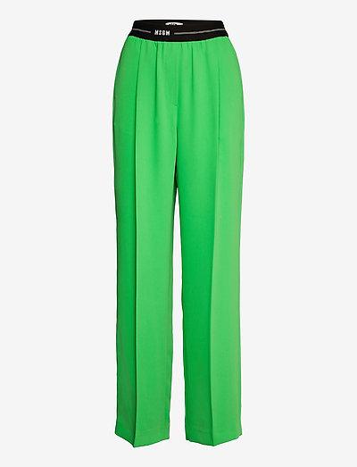 PANTALONE/PANTS - straight leg hosen - green