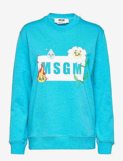 FELPA/SWEATSHIRT - sweatshirts & hoodies - blue