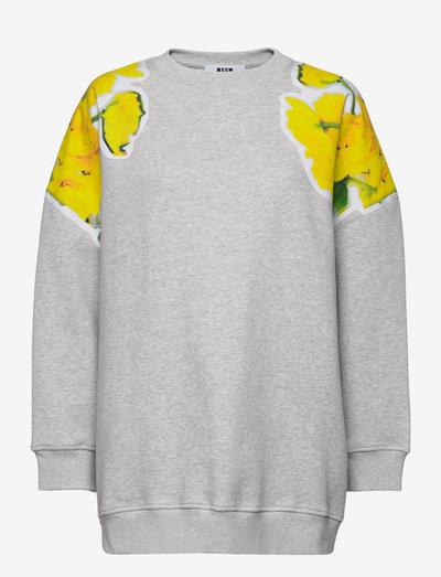 FELPA/SWEATSHIRT - sweatshirts & hoodies - grey