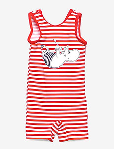 SWIMSUIT STRIPE - RED