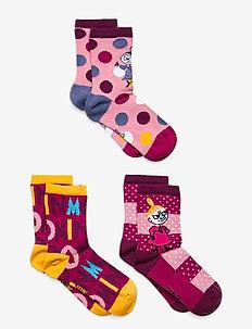 JOY SOCKS 3PACK - socks - pink