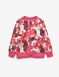 CRIMSON FLOWER TRACK JACKET - WHITE