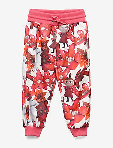 CRIMSON FLOWER TRACK PANTS - trousers - white