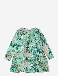 LEAFY DRESS - kleider - green