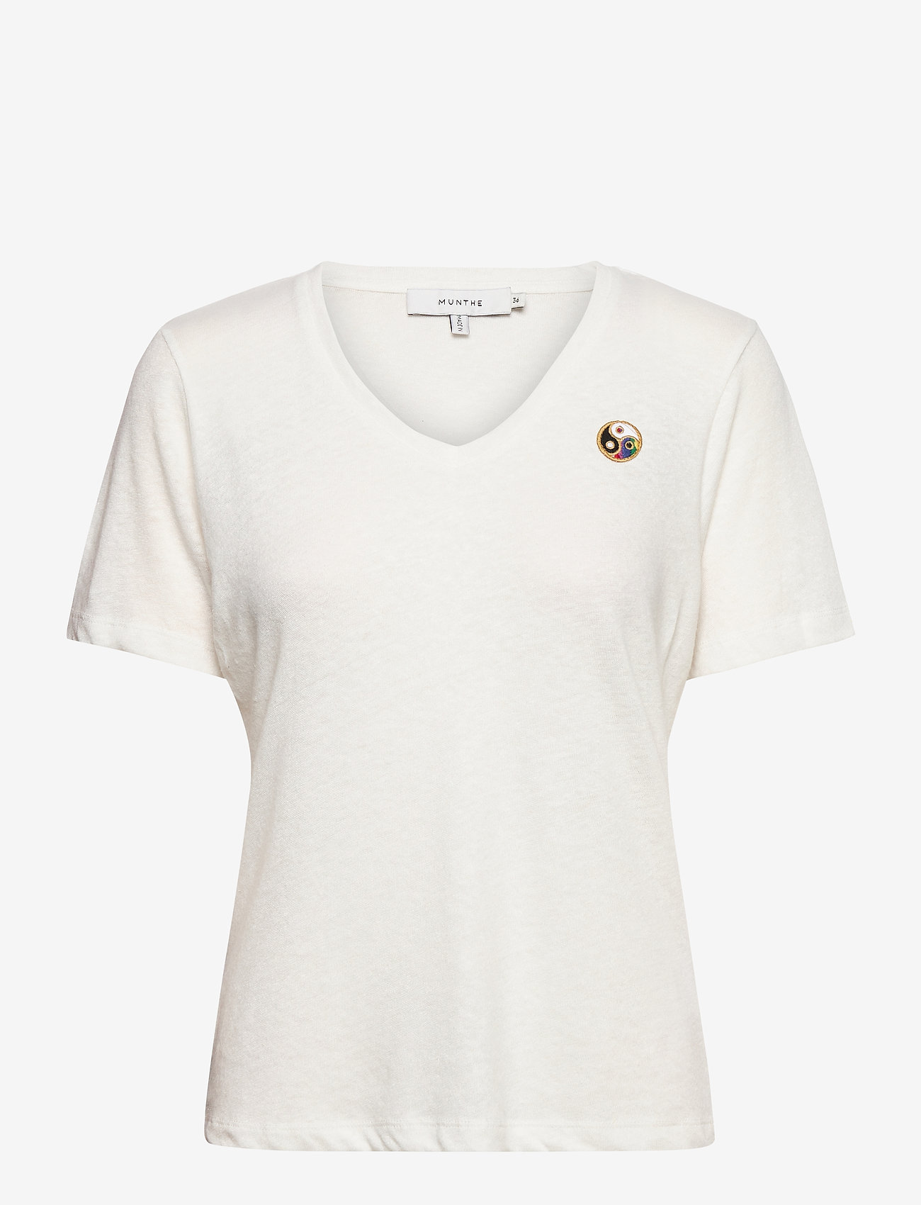 Munthe - LOWELL - t-shirts - white - 1