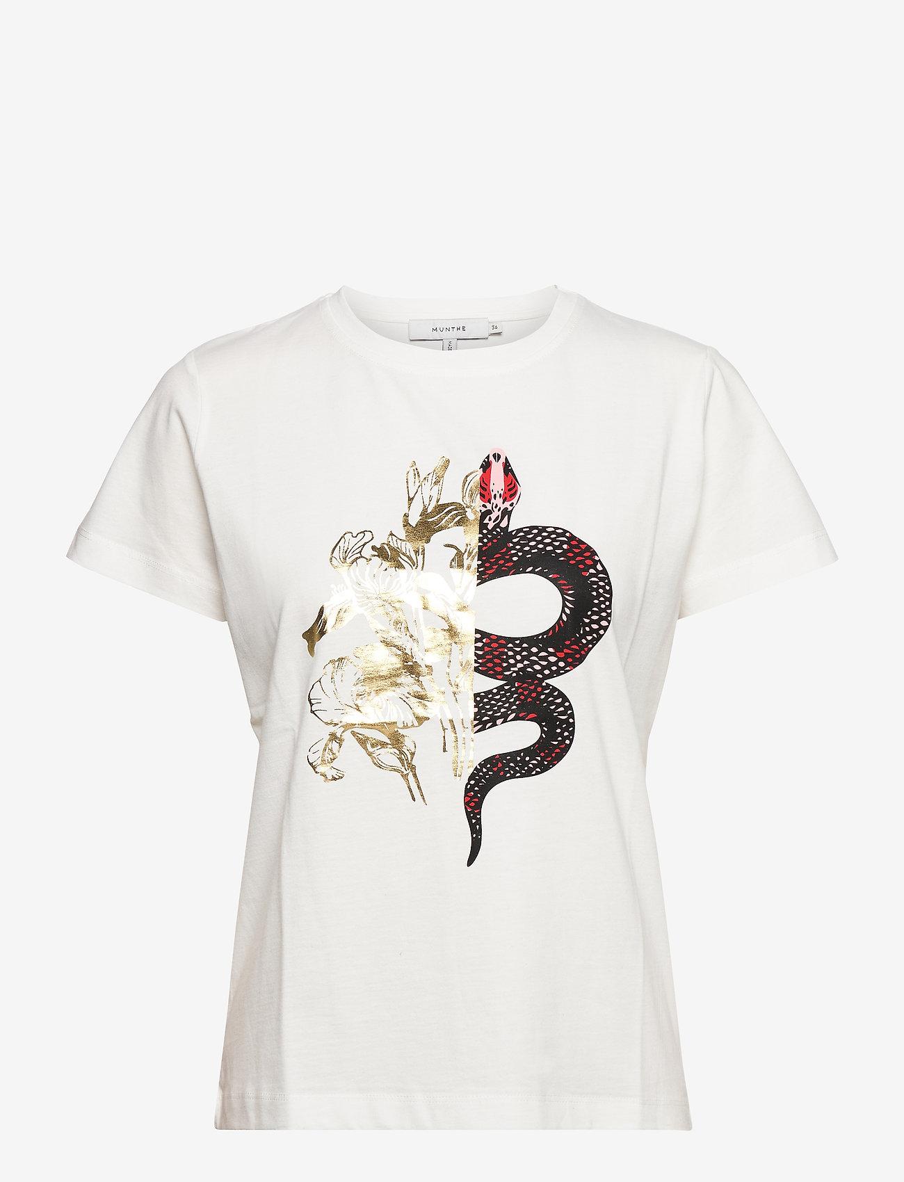Munthe - LACE - t-shirts - white - 1