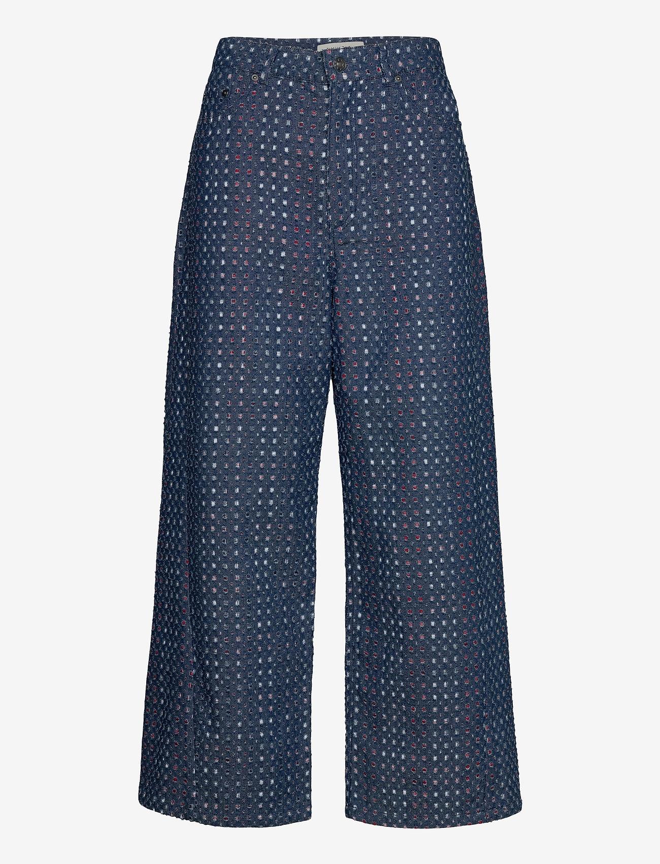 Munthe - LUBIANA - broeken met wijde pijpen - indigo - 1