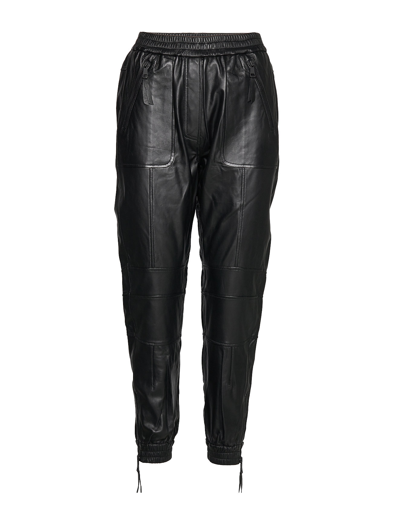 Image of Jadore Leather Leggings/Bukser Sort Munthe (3288147179)