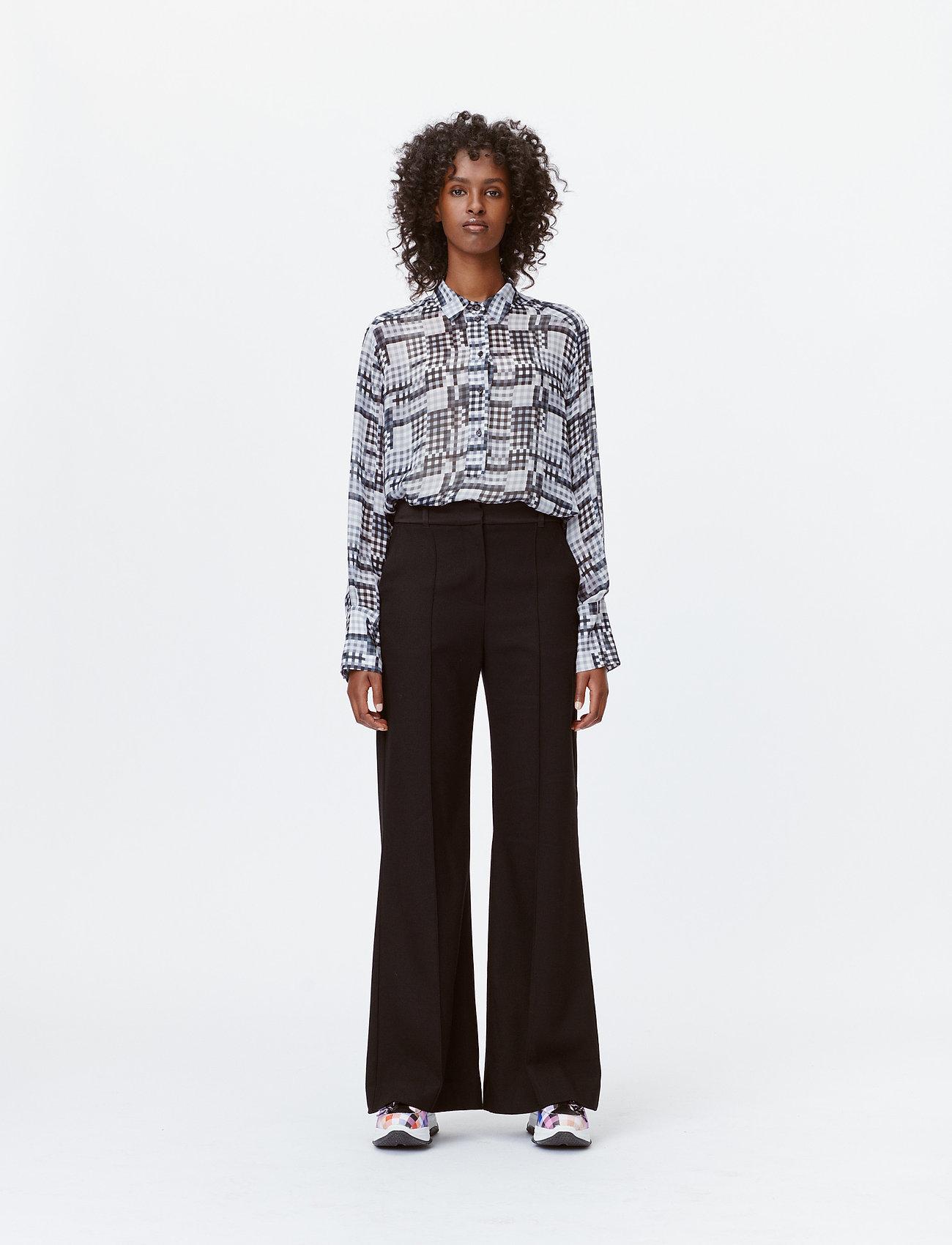 Munthe - LEAF - bukser med brede ben - black - 0