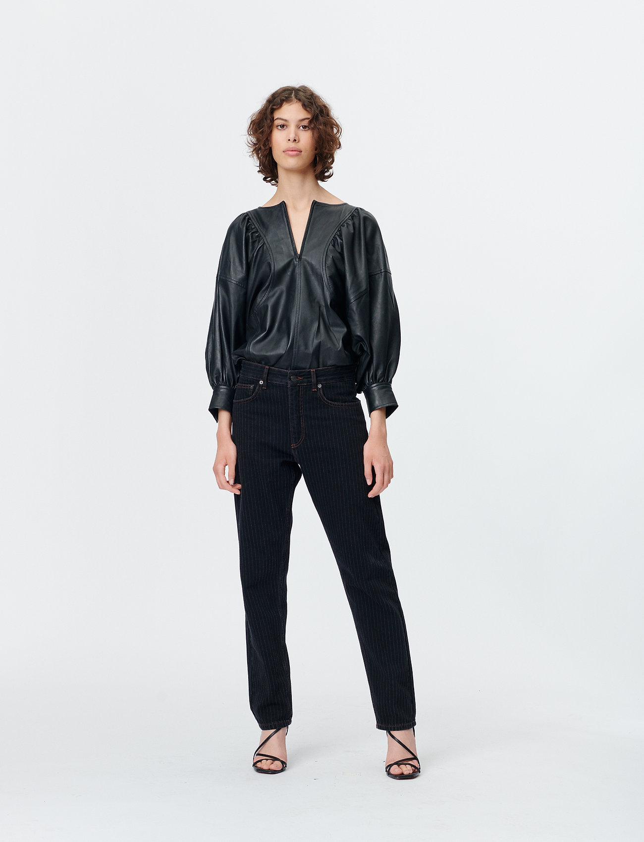 Munthe - SOLANDRA - pantalons larges - charcoal - 0