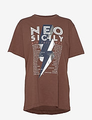 Munthe - MIDDLE - t-shirts - brown - 1