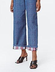 Munthe - LUBIANA - broeken met wijde pijpen - indigo - 3