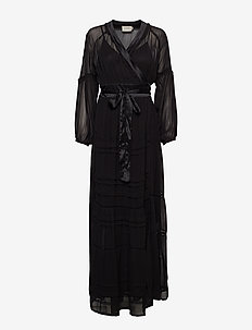TERRY - robes portefeuille - black