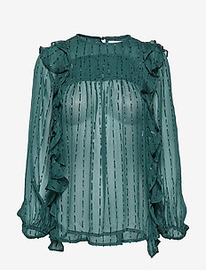 NICCI - long sleeved blouses - green