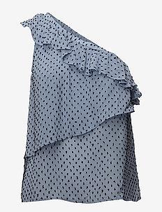 IMAGE - blouses sans manches - blue