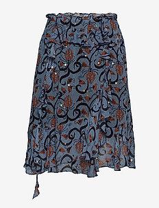 ASTONISH - midi skirts - indigo
