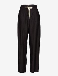 ABELLA - bukser med brede ben - black