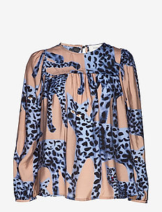 Jet - long sleeved blouses - blue
