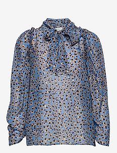 Jadyn - langærmede bluser - turquoise