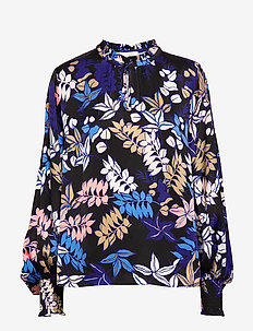 Jessa - long sleeved blouses - indigo