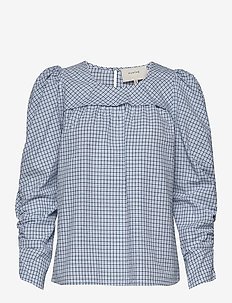 Eleanor - long sleeved blouses - blue